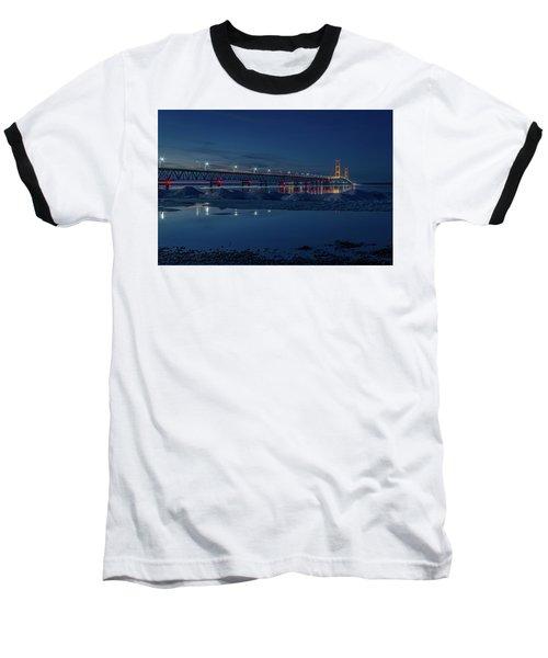 Spring Evening At The Mackinac Bridge Baseball T-Shirt