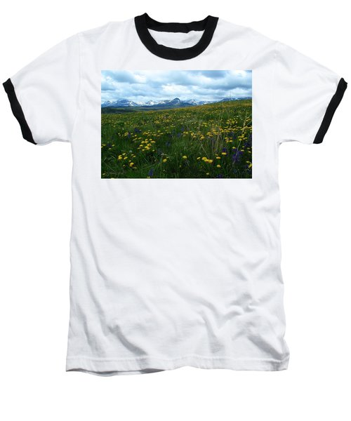 Spring Flowers On The Front Baseball T-Shirt