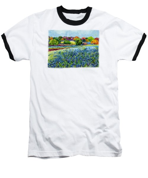 Baseball T-Shirt featuring the painting Spring Impressions by Hailey E Herrera