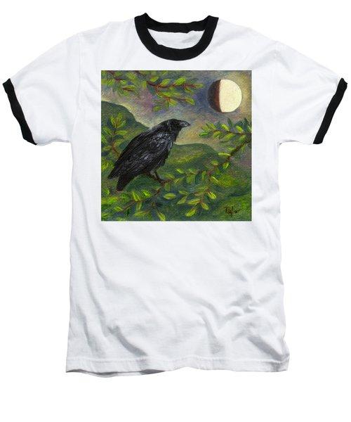 Spring Moon Raven Baseball T-Shirt
