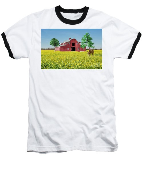 Baseball T-Shirt featuring the photograph Spring On The Farm by Bonnie Barry