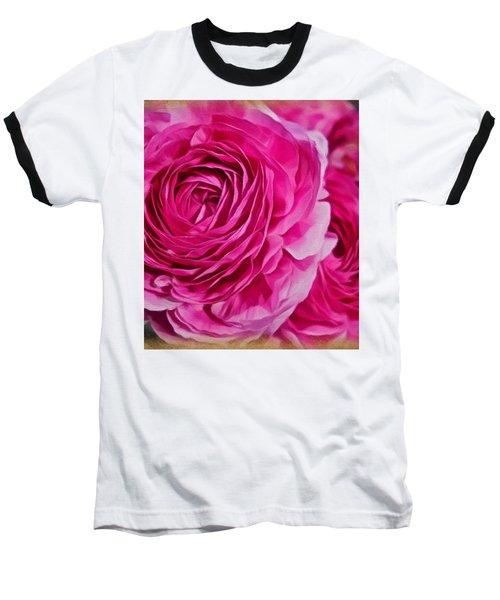 Spring Pink Roses Baseball T-Shirt