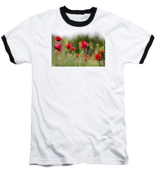 Spring Poppies  Baseball T-Shirt