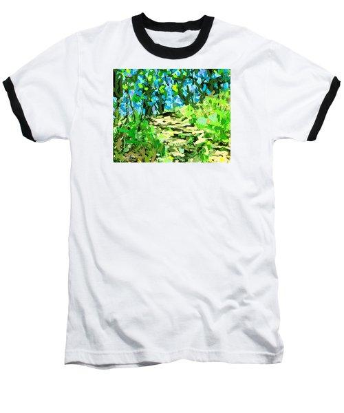 Spring Wood Path  Baseball T-Shirt