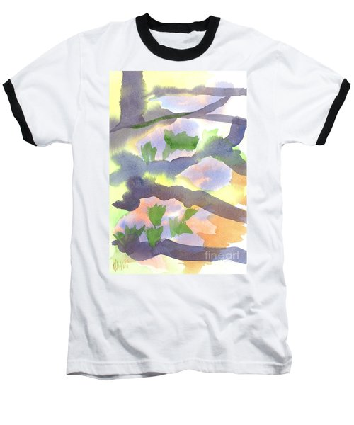 Baseball T-Shirt featuring the painting Springtime Wildflower Camouflage  by Kip DeVore