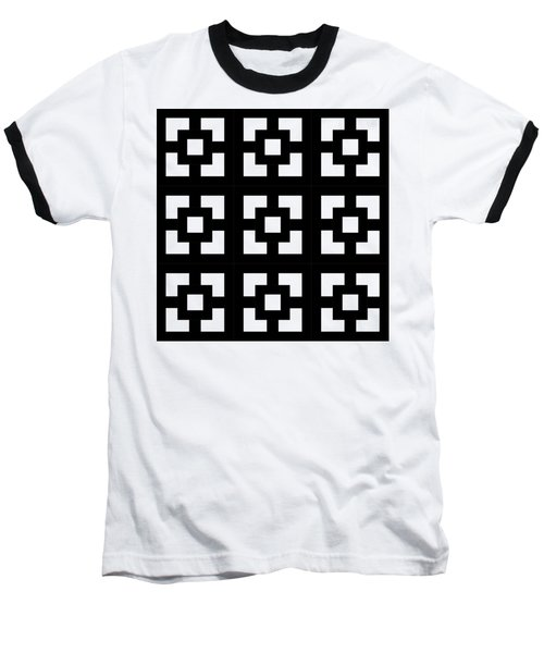 Squares Multiview Baseball T-Shirt by Chuck Staley