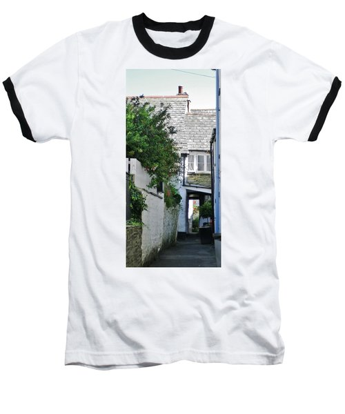Squeeze-ee-belly Alley Baseball T-Shirt by Richard Brookes