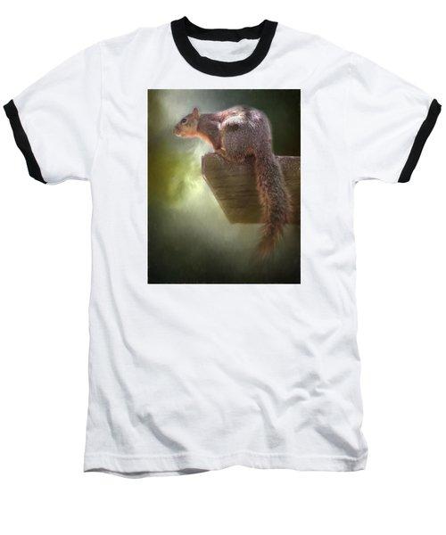 Squirrel Baseball T-Shirt by David and Carol Kelly