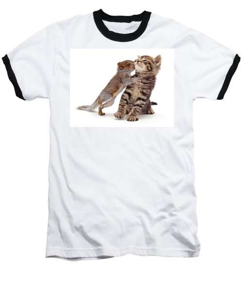 Squirrel Kiss Baseball T-Shirt