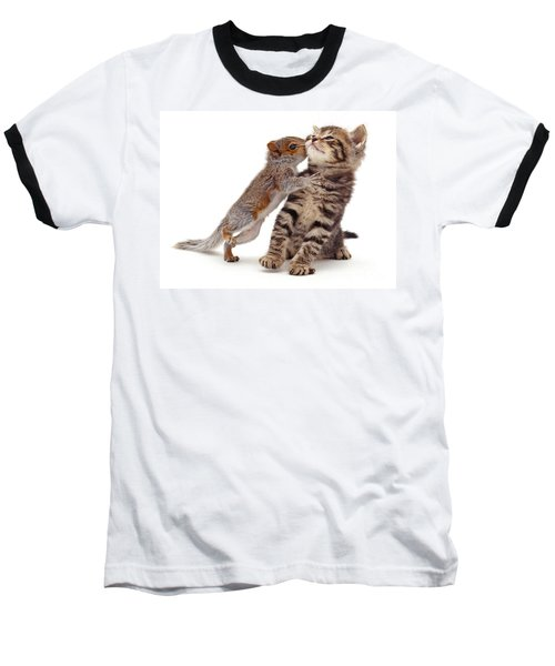Squirrel Kiss Baseball T-Shirt