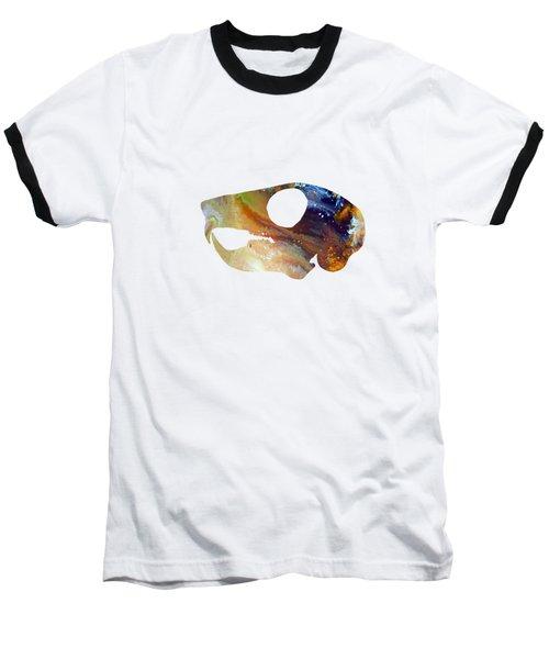 Squirrel Skull Art Baseball T-Shirt