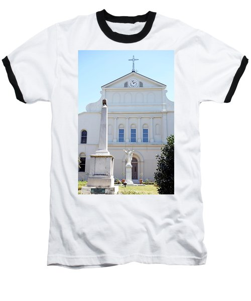 St. Louis Cathedral Back Lawn Baseball T-Shirt