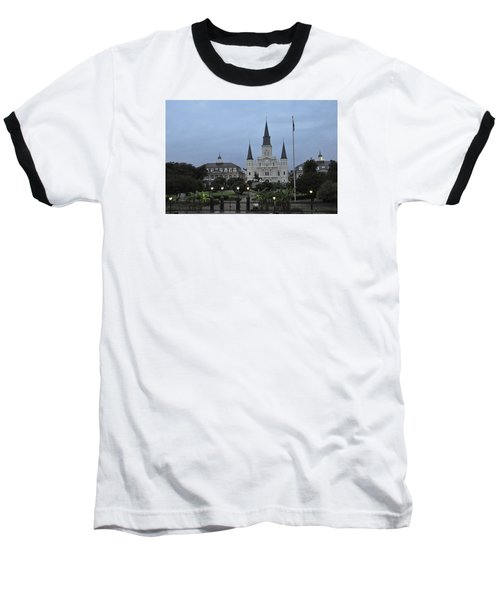 Baseball T-Shirt featuring the photograph St. Louis Catherderal by Helen Haw
