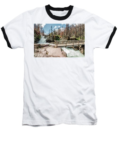 St. Mary Falls With Bridge Baseball T-Shirt
