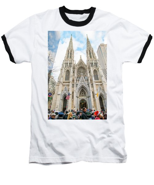 St. Patrick Cathedral In New York Baseball T-Shirt
