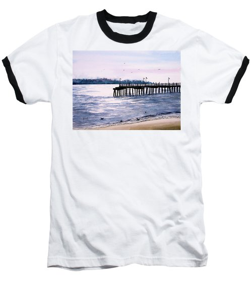 St. Simons Island Fishing Pier Baseball T-Shirt