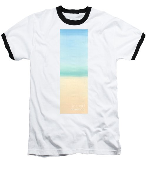 St Thomas #1 Seascape Landscape Original Fine Art Acrylic On Canvas Baseball T-Shirt