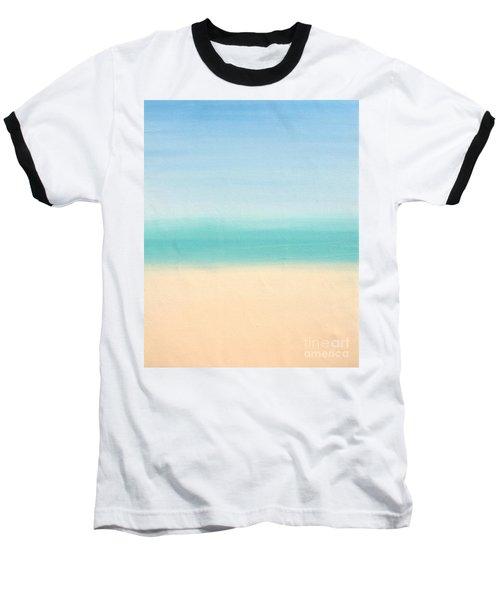 St Thomas #3 Seascape Landscape Original Fine Art Acrylic On Canvas Baseball T-Shirt