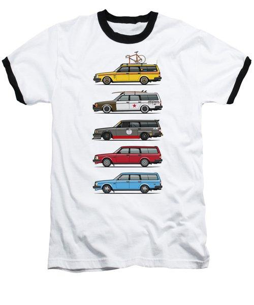 Stack Of Volvo 200 Series 245 Wagons Baseball T-Shirt
