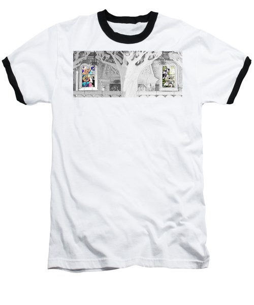 Stained Glass Windows Disney Baseball T-Shirt