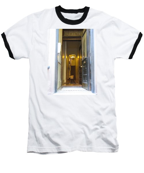 Stairs Baseball T-Shirt by Christopher Woods