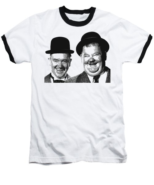 Stan And Ollie - Parallel Hatching Baseball T-Shirt