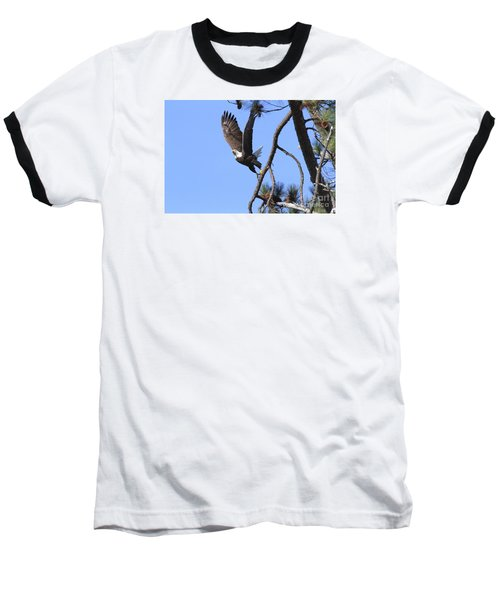 Baseball T-Shirt featuring the photograph Standing Eagle by Geraldine DeBoer