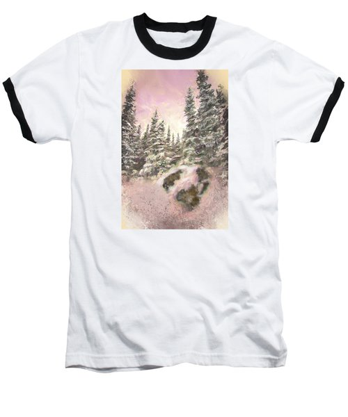 Baseball T-Shirt featuring the painting Standing Tall by Annette Berglund
