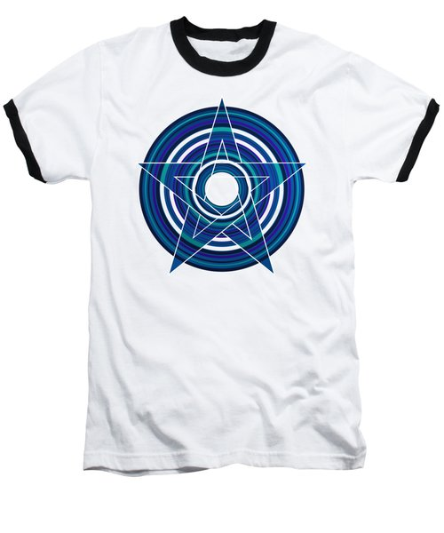 Star Marine Over Concentric Circles Baseball T-Shirt