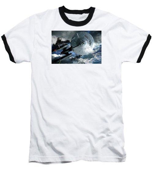 Star Trek Into Darkness, Original Mixed Media Baseball T-Shirt by Thomas Pollart