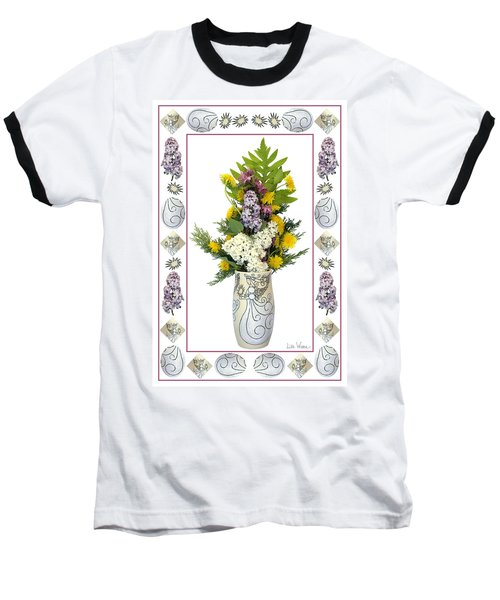 Star Vase With A Bouquet From Heaven Baseball T-Shirt by Lise Winne