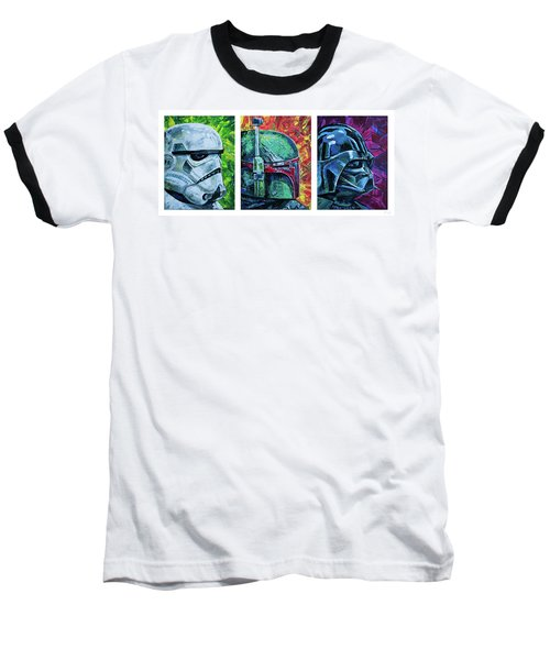 Star Wars Helmet Series - Triptych Baseball T-Shirt