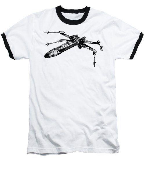 Star Wars T-65 X-wing Starfighter Tee Baseball T-Shirt by Edward Fielding