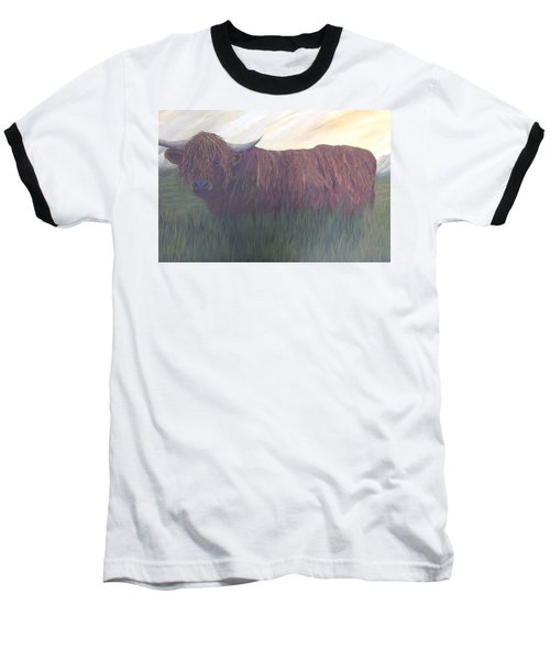 Stare Down Baseball T-Shirt by T Fry-Green