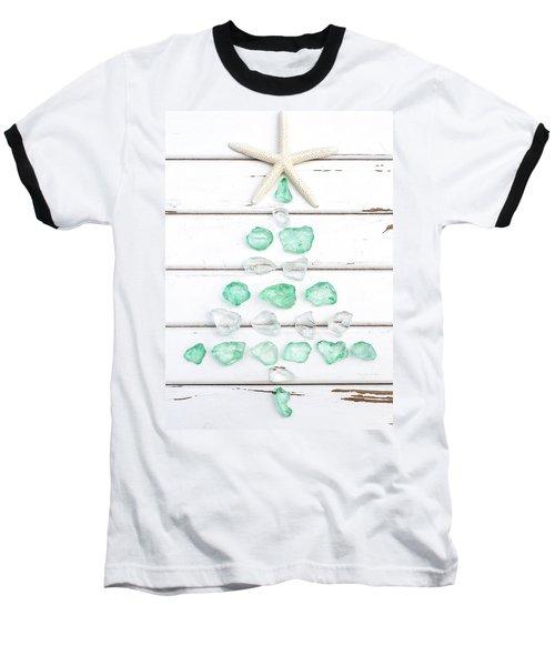 Starfish Christmas Tree Baseball T-Shirt