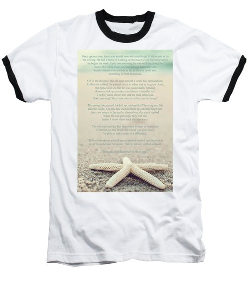 Starfish Make A Difference Vintage Set 1 Baseball T-Shirt