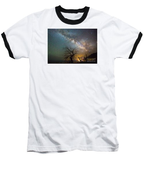 Starry Milky Way Baseball T-Shirt