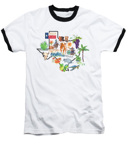 State Of Texas As I Know It Baseball T-Shirt