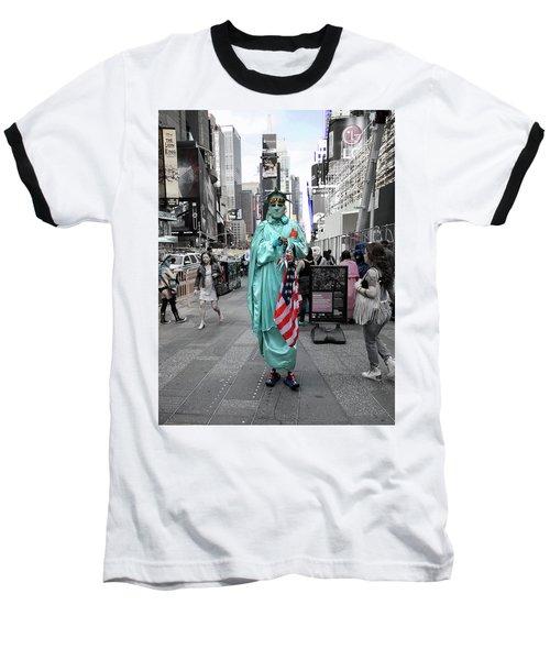 Statue Of Liberty Guy Baseball T-Shirt