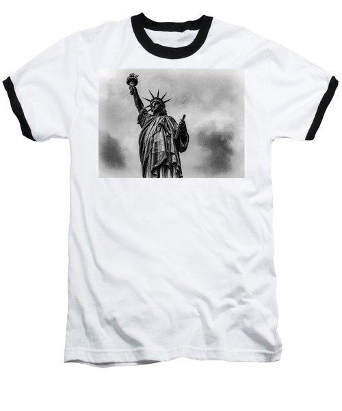 Statue Of Liberty Photograph Baseball T-Shirt