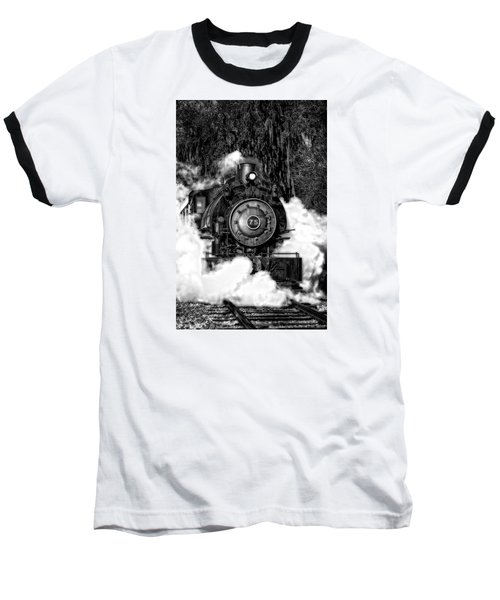Steam Engine Jan 2016 In Hdr Baseball T-Shirt by Michael White