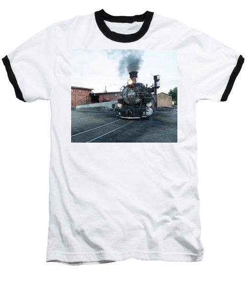 Steam Locomotive In The Train Yard Of The Durango And Silverton Narrow Gauge Railroad In Durango Baseball T-Shirt by Carol M Highsmith