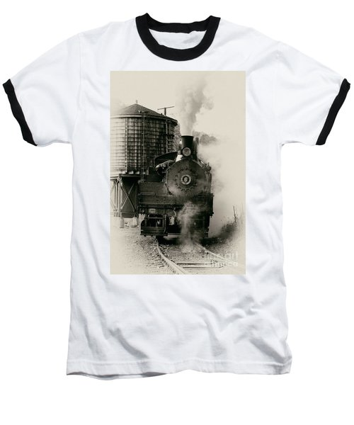 Steam Train Baseball T-Shirt by Jerry Fornarotto