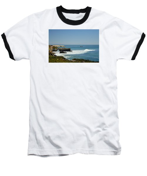 Baseball T-Shirt featuring the photograph Steamer Lane, Santa Cruz by Antonia Citrino