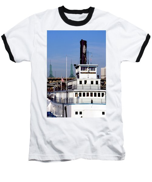 Baseball T-Shirt featuring the photograph Sternwheeler, Portland Or  by Frank DiMarco