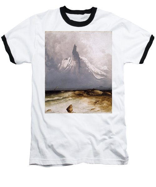 Stetind In Fog Baseball T-Shirt