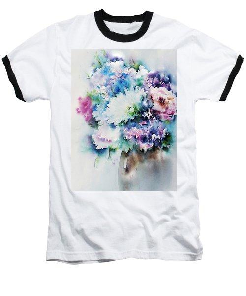 Still Life Rose Bouquet Watercolour Baseball T-Shirt