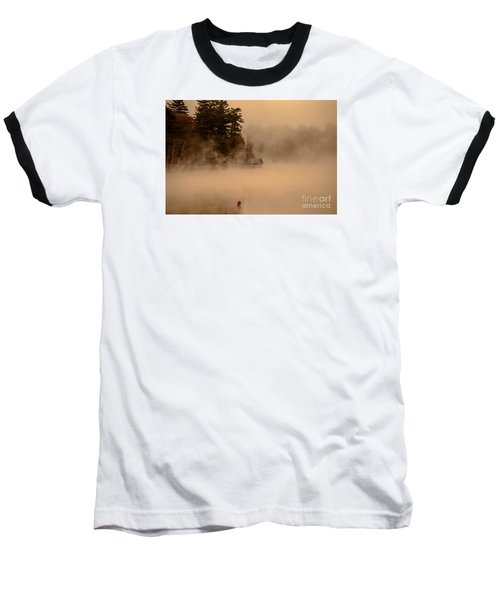 Stillness Of Autumn Baseball T-Shirt by Sherman Perry
