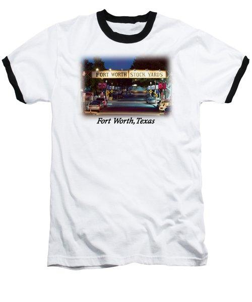 Stock Yards Sign T-shirt Baseball T-Shirt