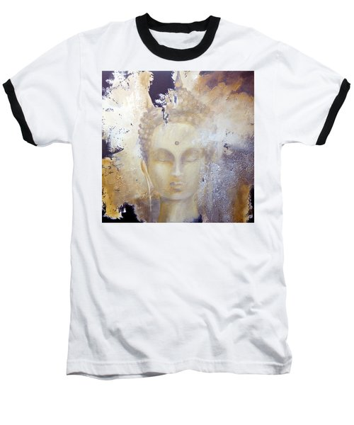 Baseball T-Shirt featuring the painting Stone Buddha by Dina Dargo